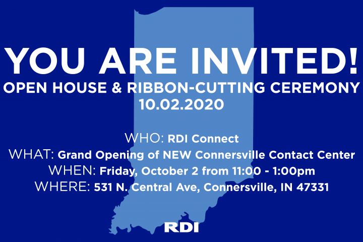 RDI Connect Connersville, Indiana Contact Center Grand Opening and Ribbon Cutting