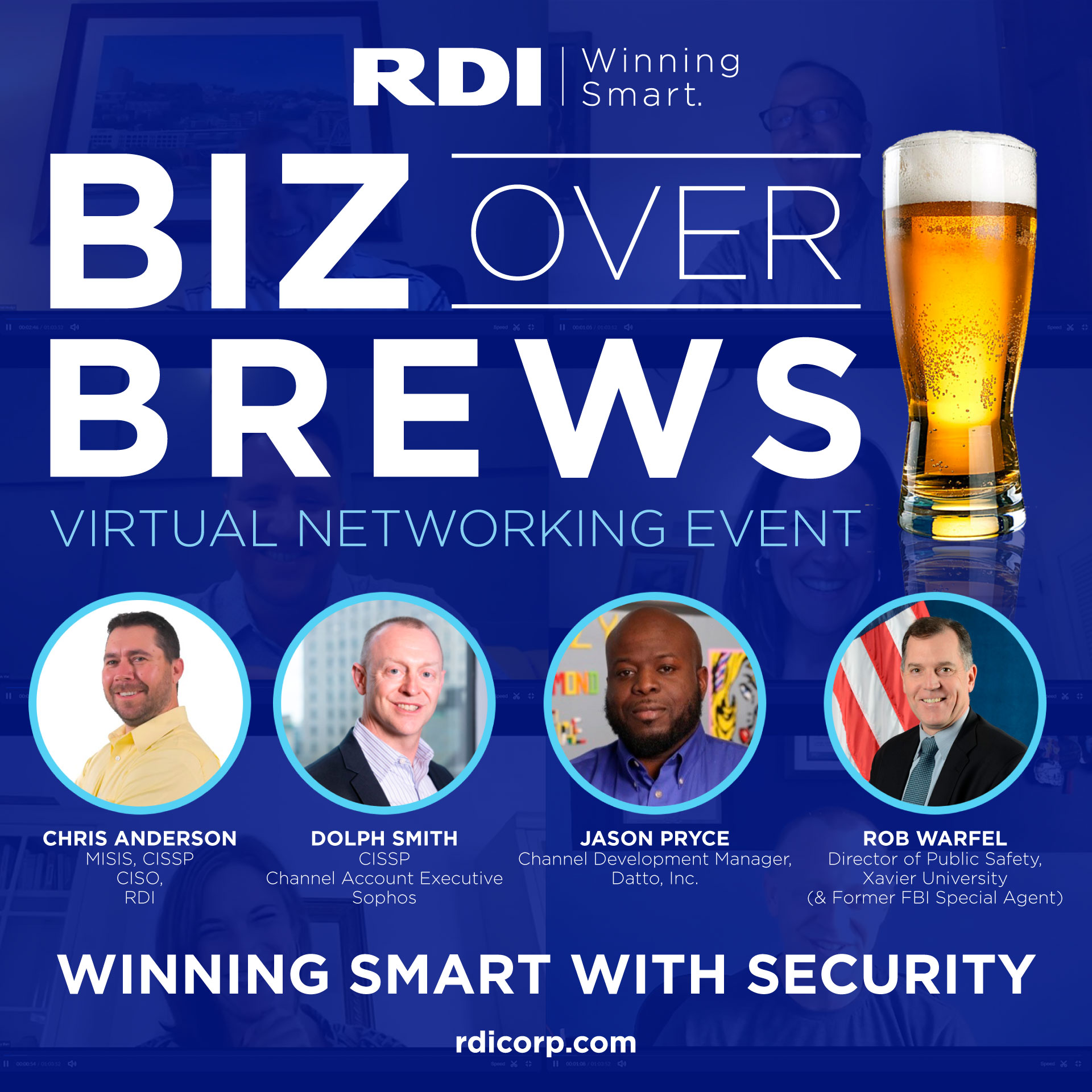 Biz Over Brews Networking Event - Winning Smart with Security