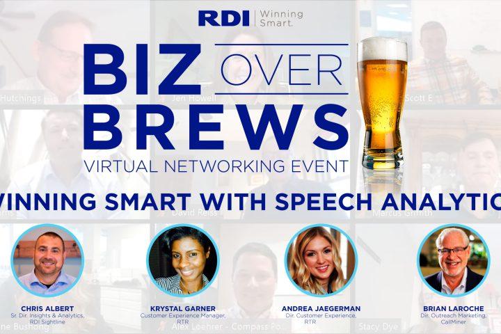 Biz Over Brews Networking Event - Winning Smart with Speech Analytics