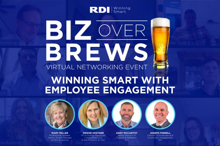 Biz Over Brews Virtual Networking Event - Winning Smart with Employee Engagement