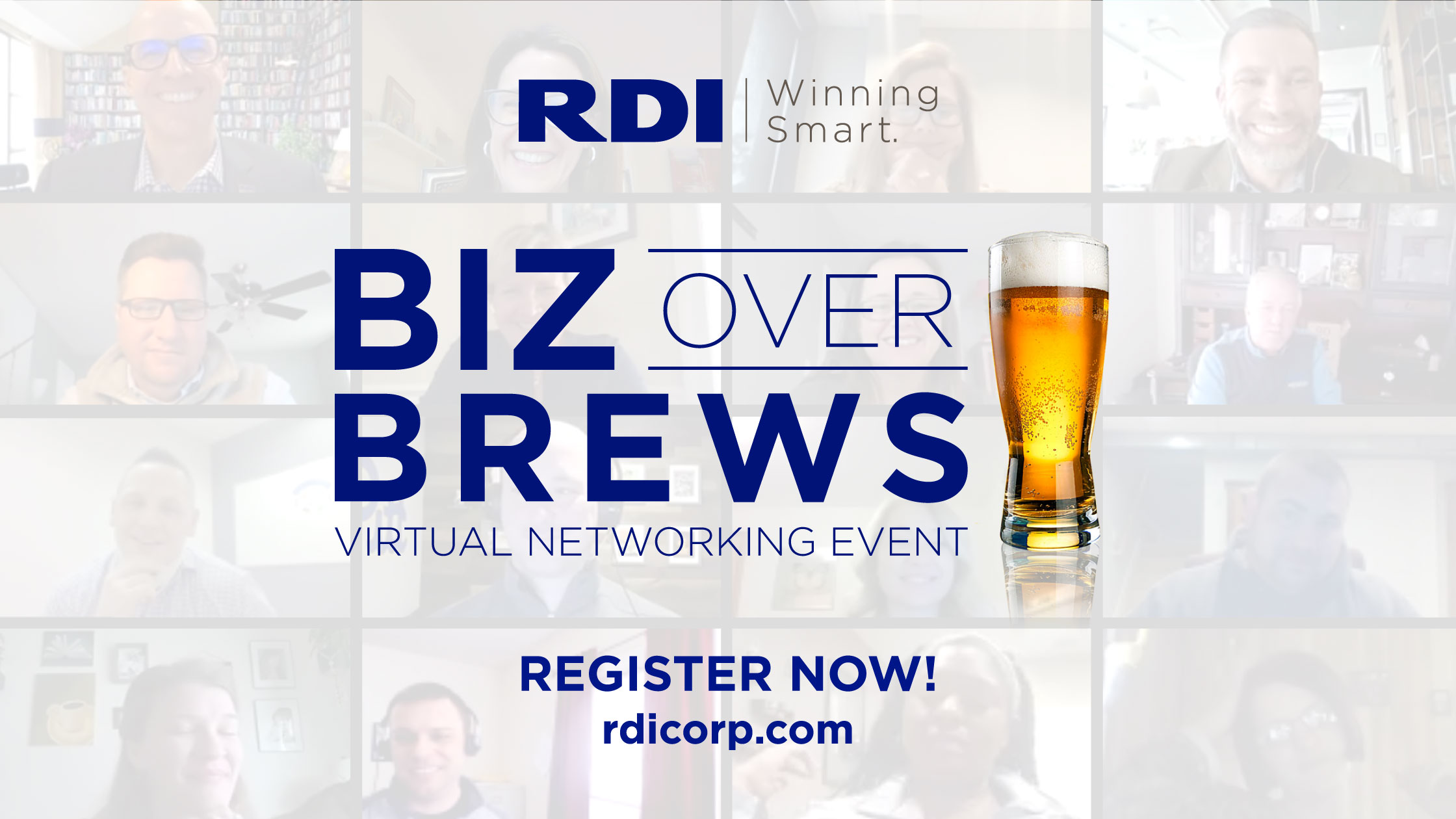 Biz Over Brews Virtual Networking Event - Winning Smart with RDI Corporation