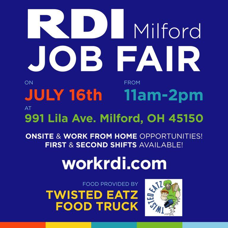 RDI Connect Milford Job Fair July 16, 2021